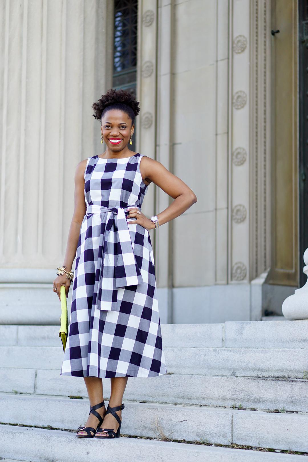 0163439a0899 My Gingham Style  A Sophisticated Midi Dress - Economy of Style