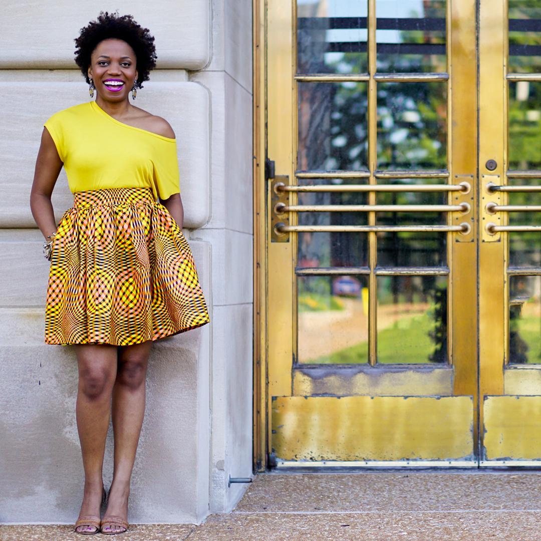 Maryam Garba African Print Skirt 10c2