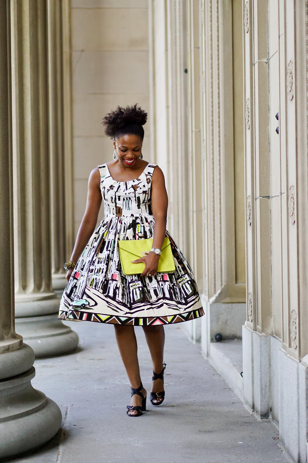 Print Dresses, Kate Spade Havana-Inspired Landcape Dress 3c