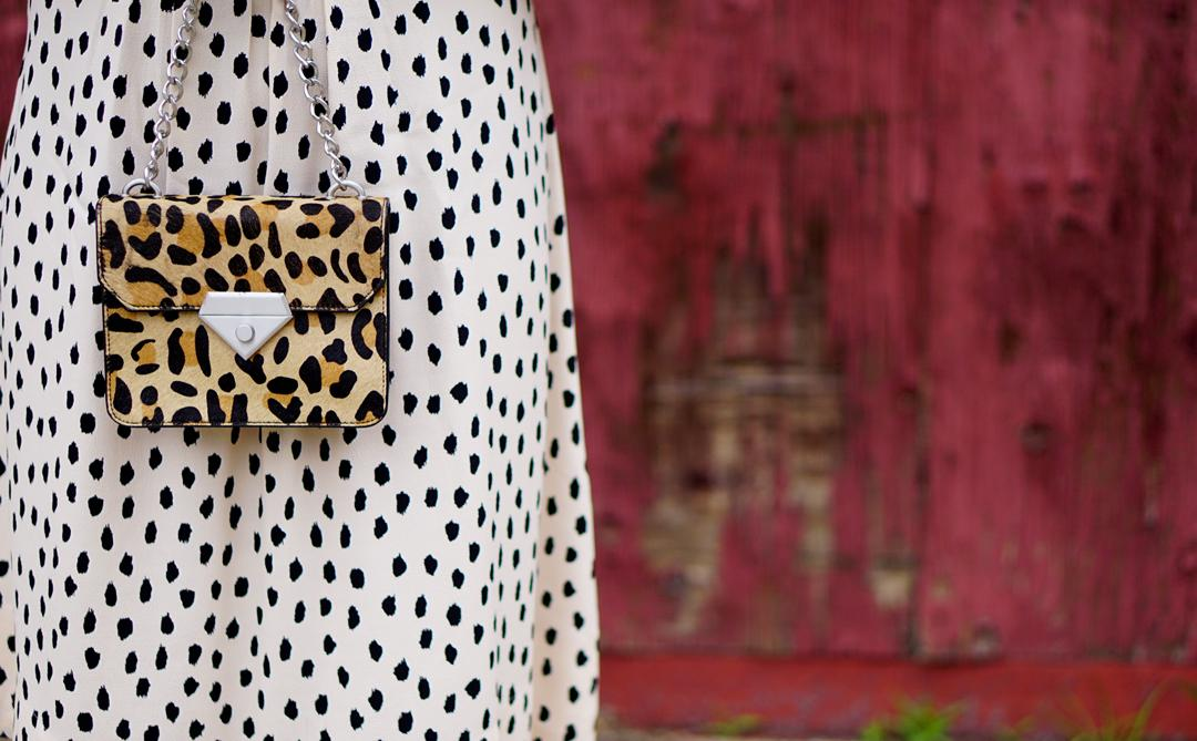 Kate Spade leopard dot tie back dress 7c