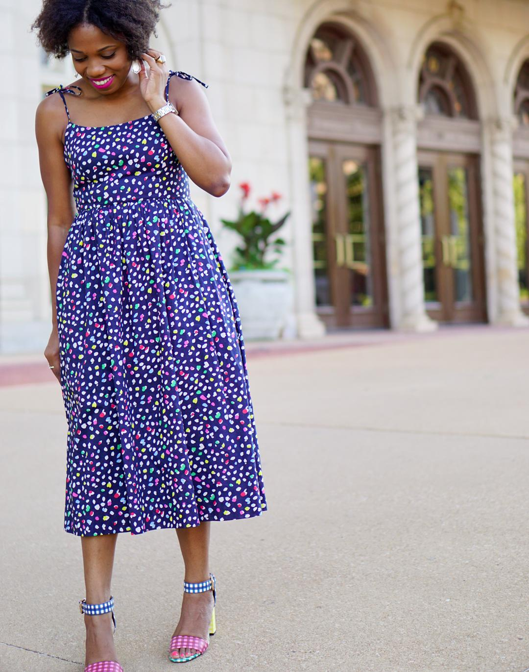 J.Crew SUNDRESS IN RATTI® HAPPY CAT PRINT 5c