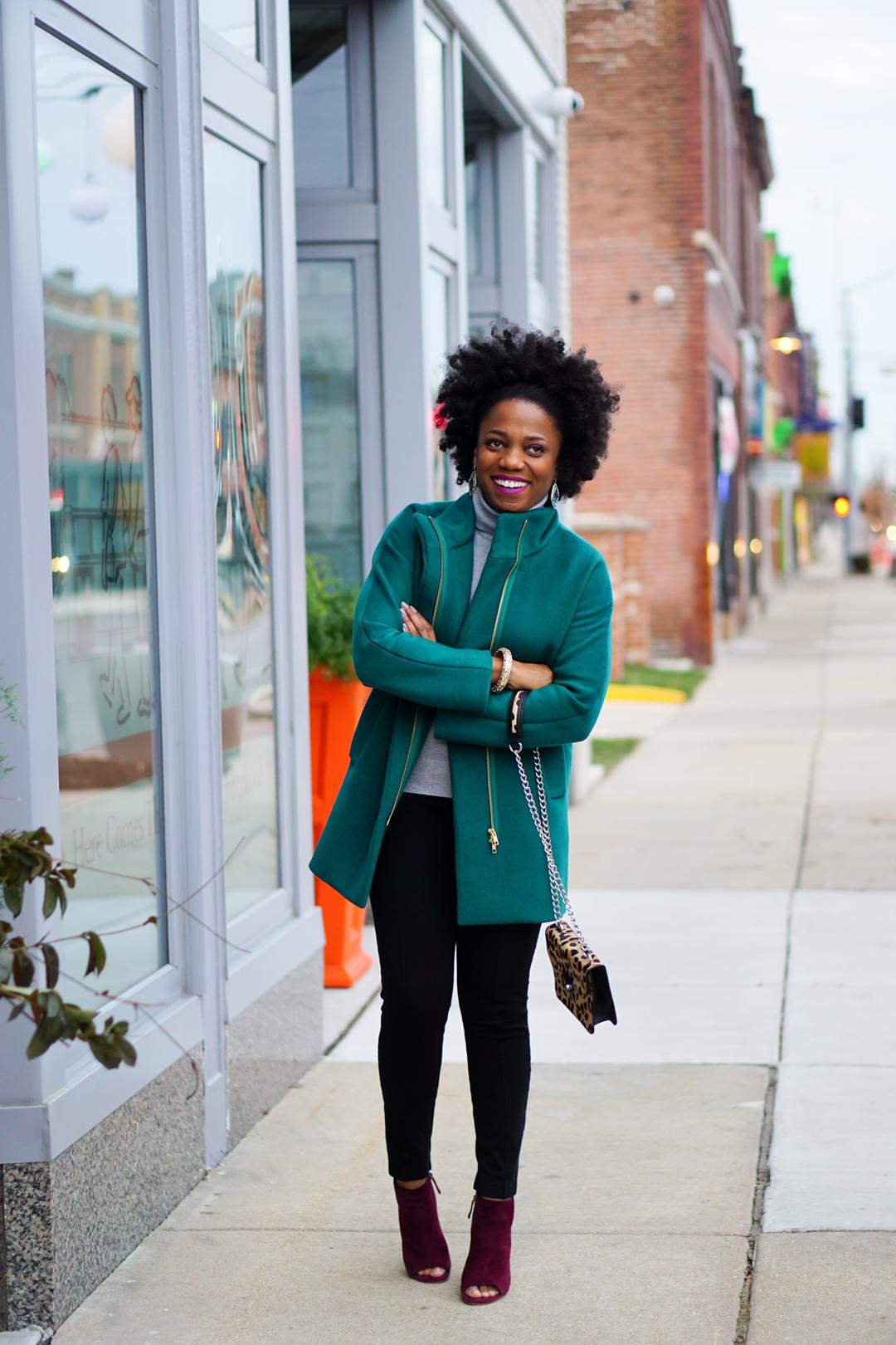 J.Crew Factory City Coat Spicy Jade