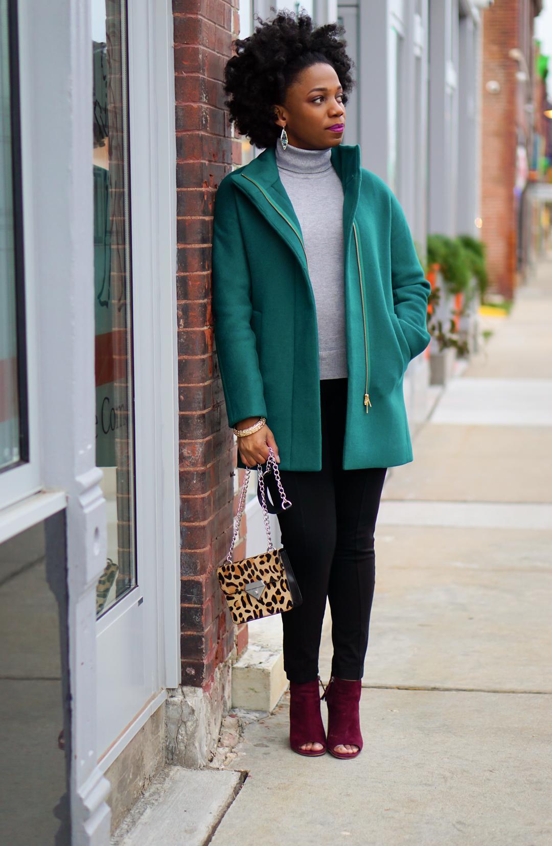 Colorful winter coat