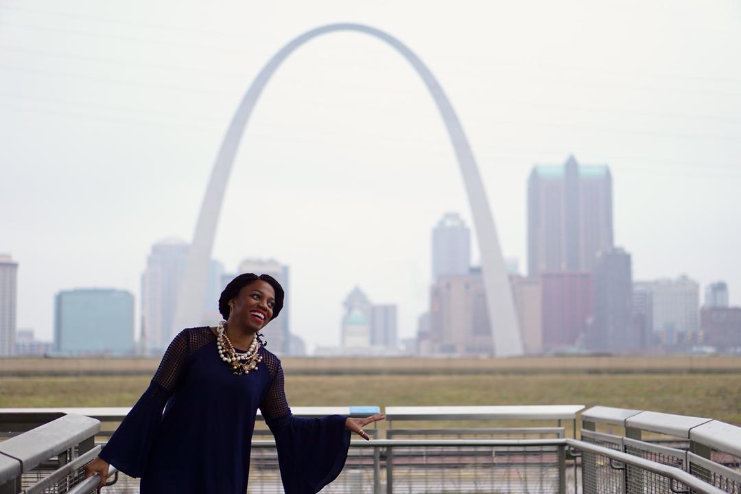 Hazel2Blue Dress St Louis Arch