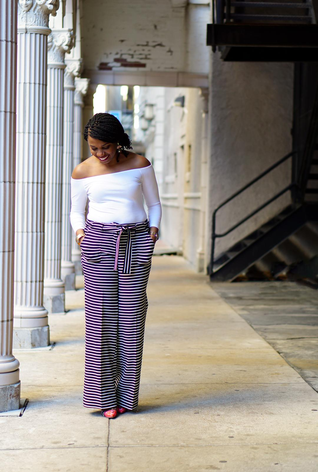 7TH AVENUE DESIGN STUDIO WIDE-LEG PANts