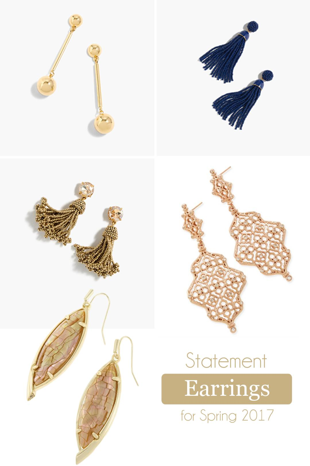 Statement Earrings Spring 2017 Trend