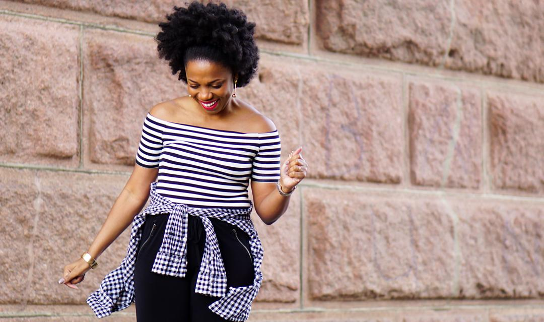 Pattern Play: An Easy Way to Mix Gingham and Stripes