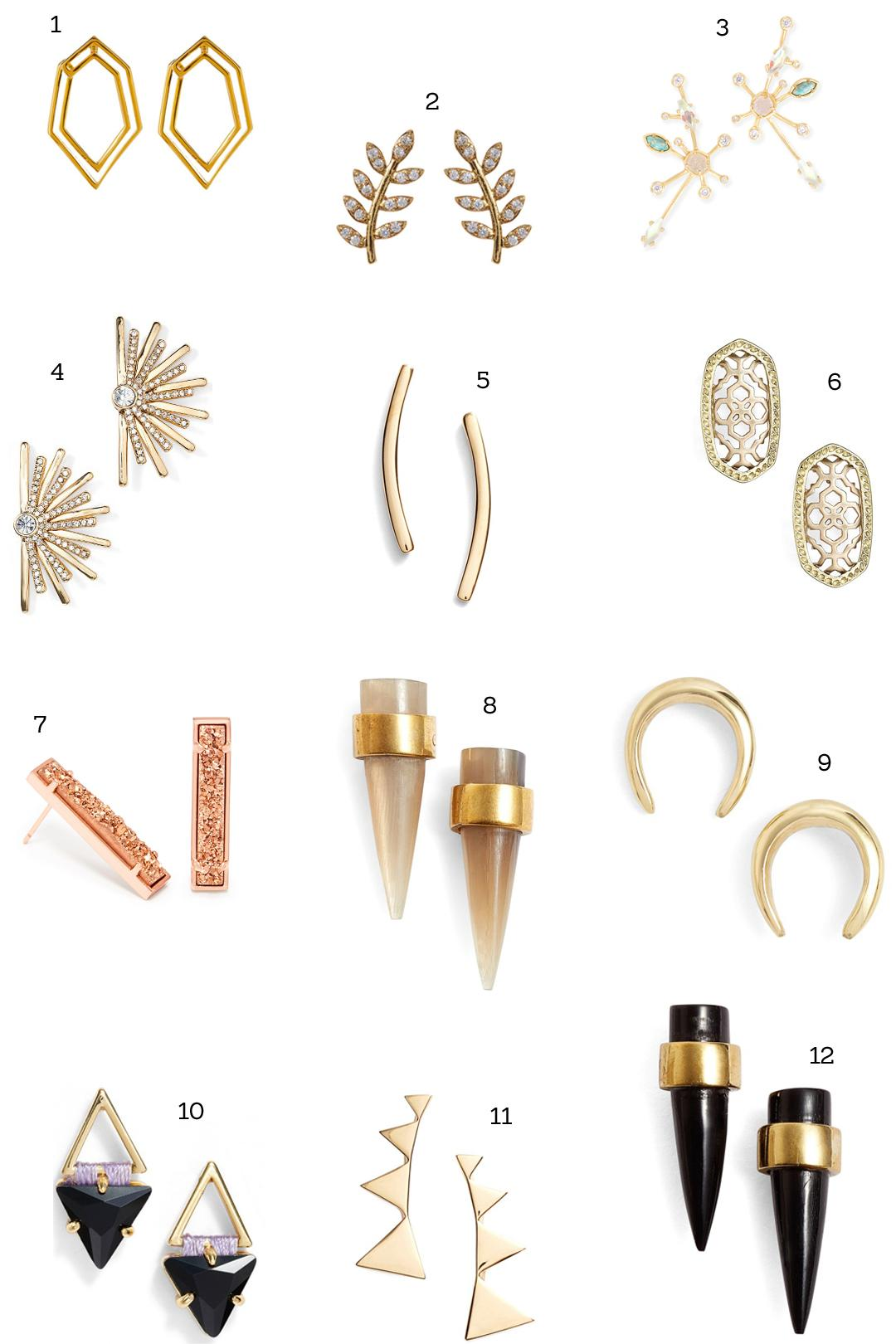 Stud Earrings Summer 2017 Jewelry Jpg