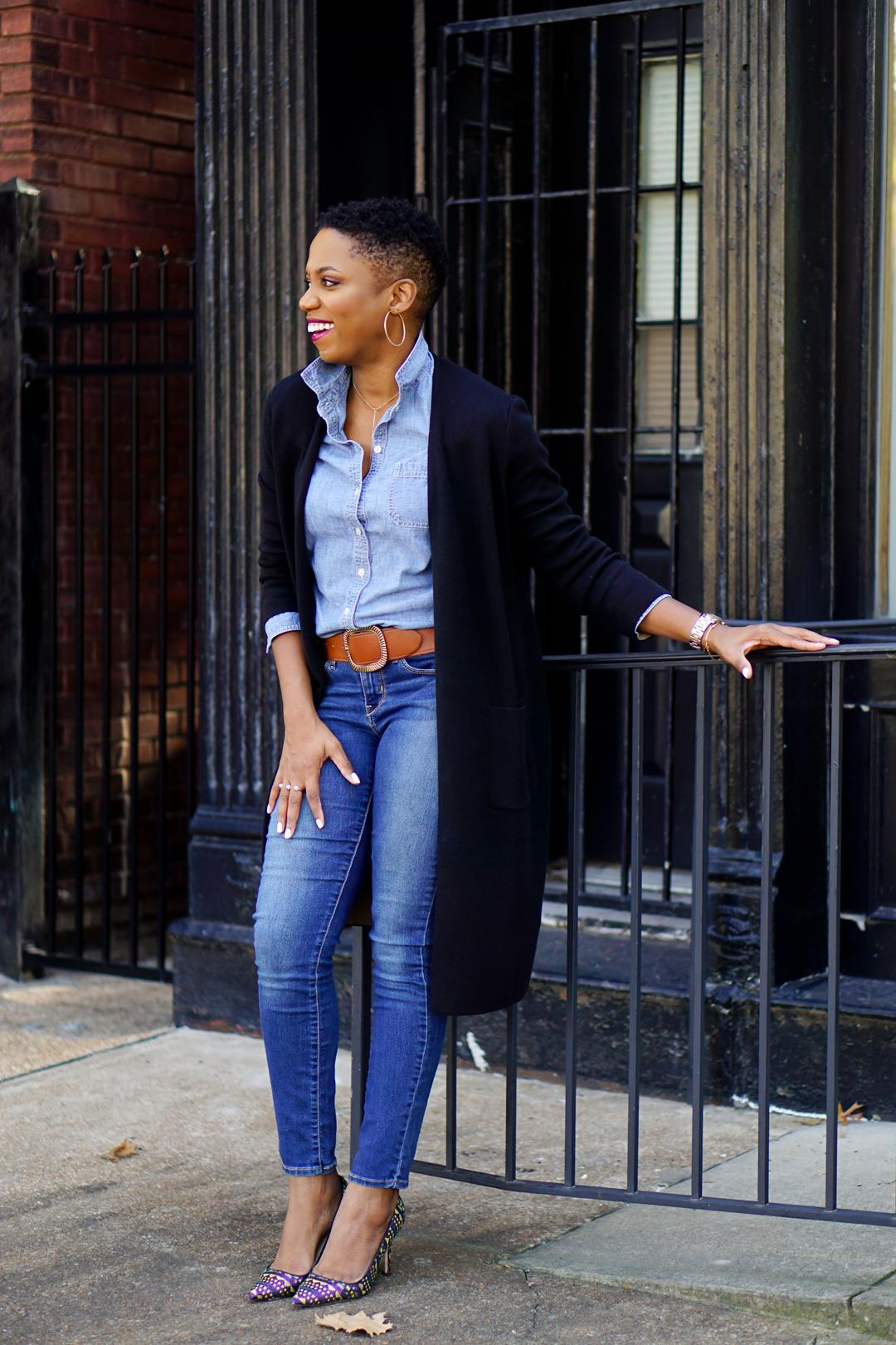 Double denim fall style