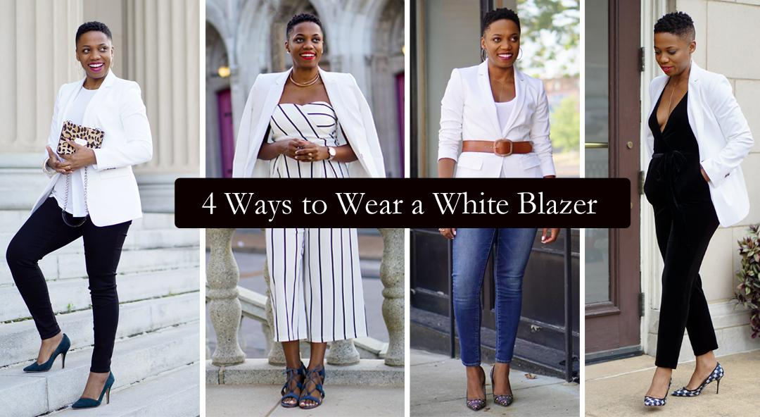 4 ways to wear a white blazer