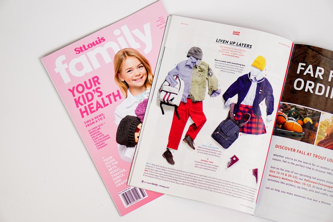 Styling the Kids Fashion Spread in St. Louis Magazine