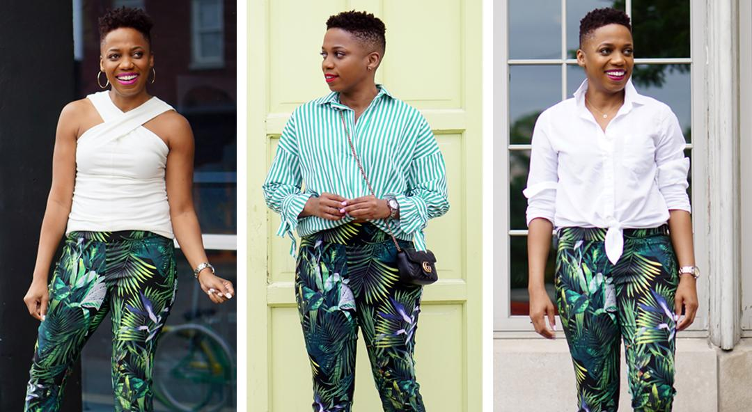 3 Chic Ways to Wear Tropical Pants Right Now