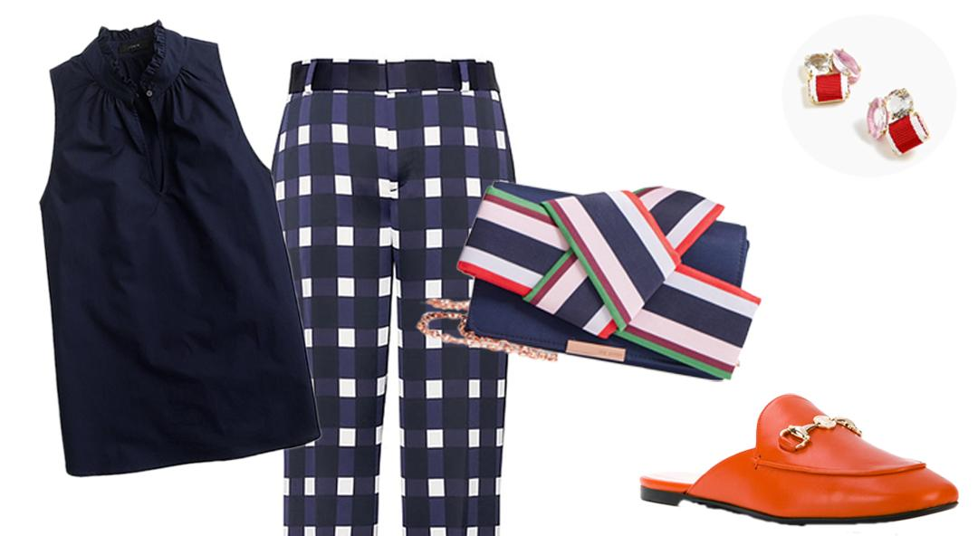 A Sophisticated Way to Rock Gingham This Summer