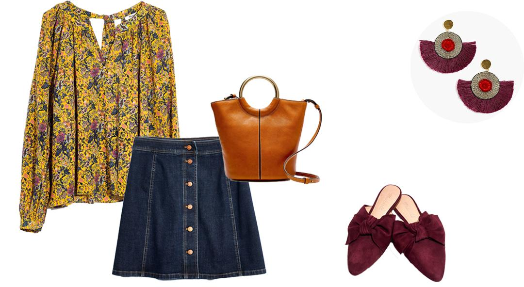 A Fresh Way To Wear A Denim Skirt Right Now