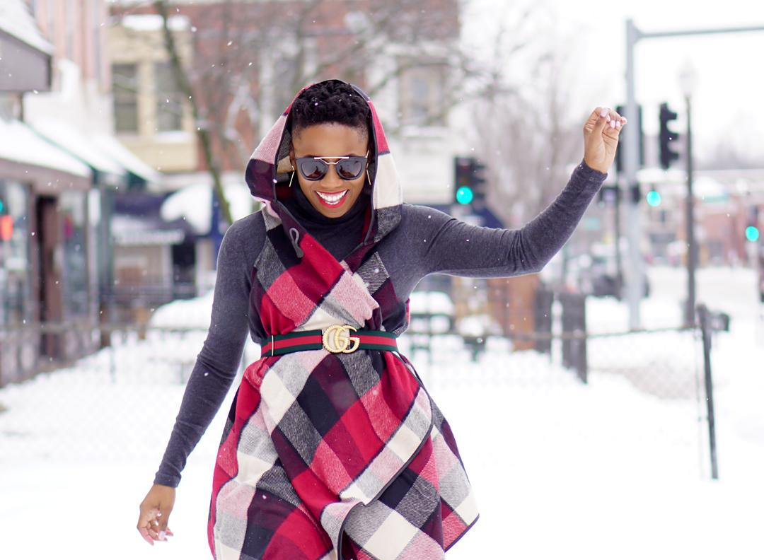 "How To Keep Your Style In ""Check"" On Snow Days"