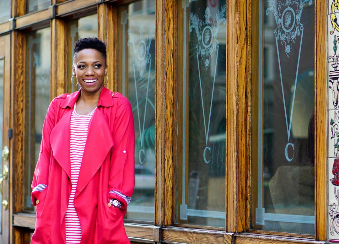 The Classic Red Trench Coat For Spring