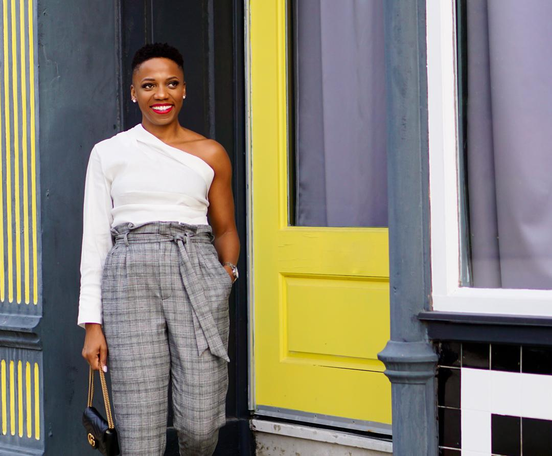 A Fresh Way To Wear Plaid Pants This Fall