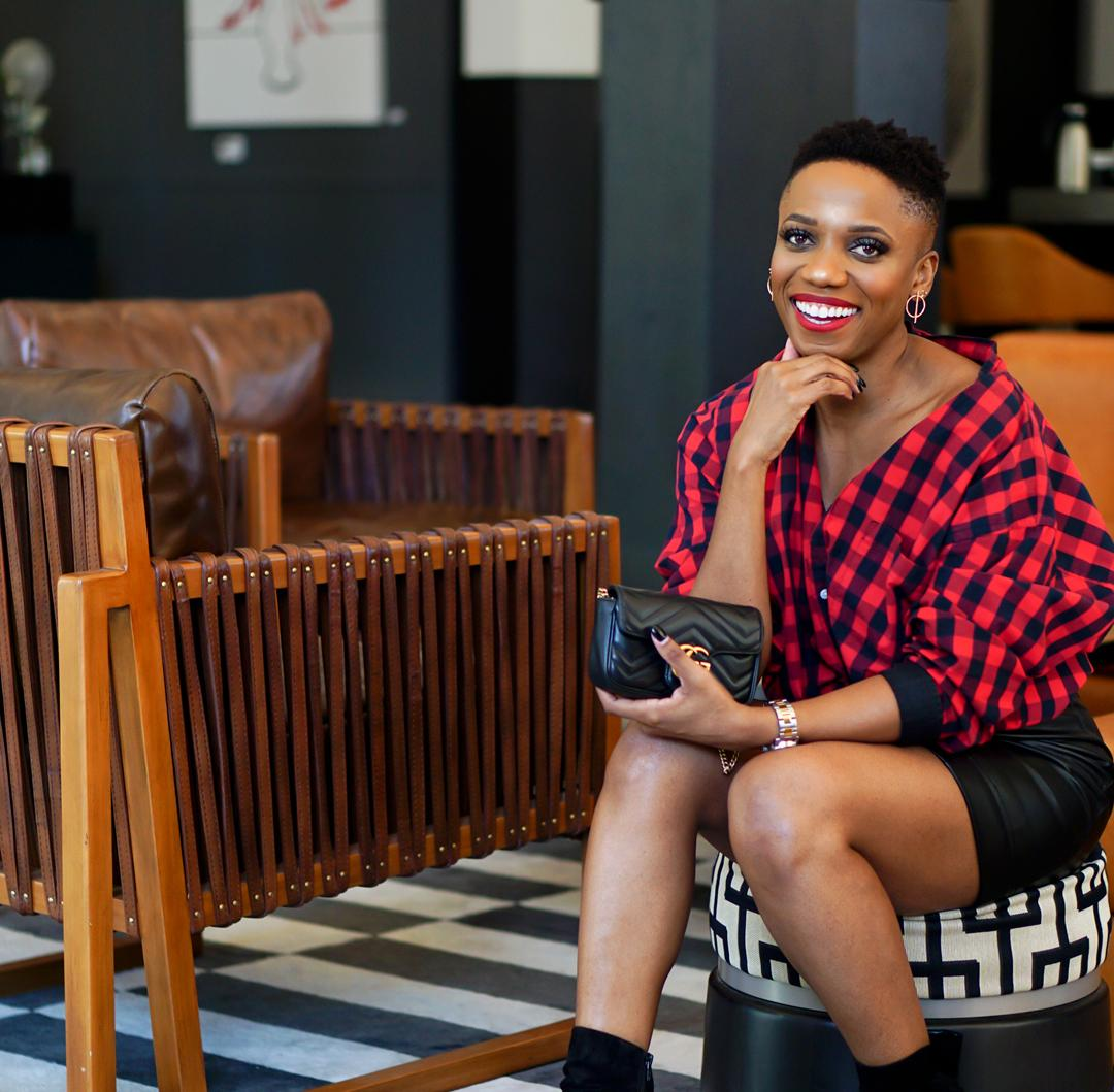 How To Style Plaid And Leather For Fall